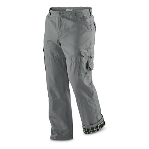 Pant Grey Flannel (Guide Gear Men's Flannel Lined Cargo Pants)