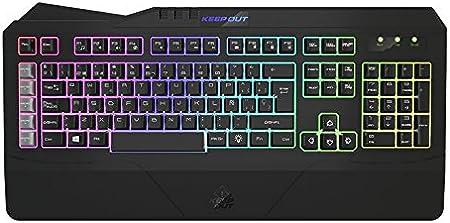 Keep Out Gaming F89PT - Teclado con retroiluminación, Color Negro y Gris