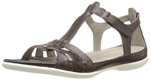 ECCO Women's Women's Flash T-Strap Gladiator Huarache Sandal, Coffee/Coffee, 41 EU/10-10.5 M (Ecco Flash)