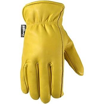 Men's Winter Leather Work Gloves, 100-gram Thinsulate