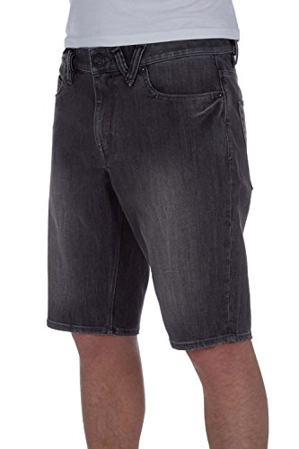 (Volcom Men's Solver Classic-Fit Stretch Denim Shorts (30, vertiver Grey))