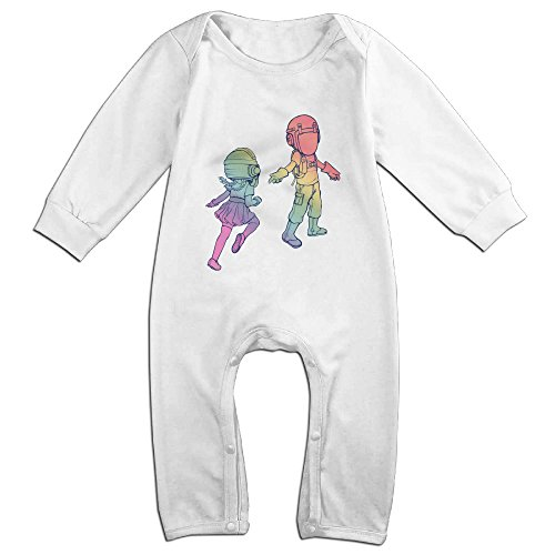 Raymond We Are Friends Long Sleeve Romper Bodysuit Outfits White 18 Months