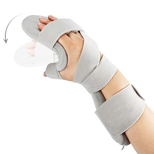 Fractures Wrist (Soft Function Resting Wrist Orthosis by REAQER Night Hand Splint Support Immobilizer (R))