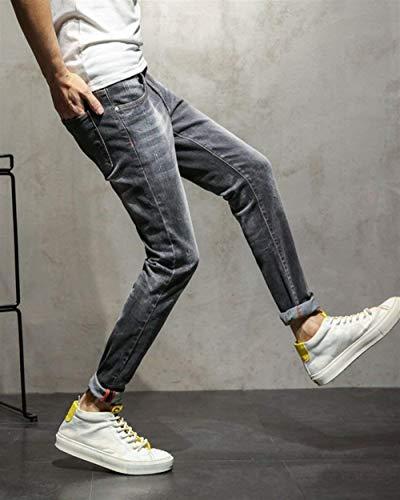 Jeans Buco E Casual Con Fit Da T Uomo Slim Lavati Color Dritti Piccoli 1918grau Stretch Ragazzi Classiche Denim Pantaloni 1IBIwq