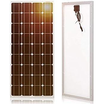 Amazon Com Dokio 100w 12v Monocrystalline Solar Panel
