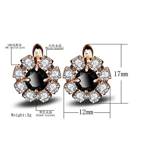 YAZILIND Women Resin Flower Gold Plated Sparkling Stud Earrings Statement Elegant Party Dainty Vintage Jewelry Gift