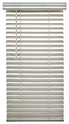 A Better Blind – Premium 2 Inch Cordless Fauxwood Horizontal Window Blinds – Smooth Snow White Color – 24 x 48