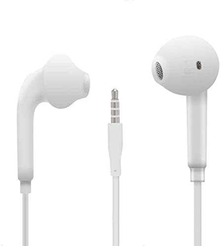 White Bass Earphones Yydzkj 3.5mm Wired Headset for Galaxy S8 Plus S9 S7 S6 Edge Note9 Android