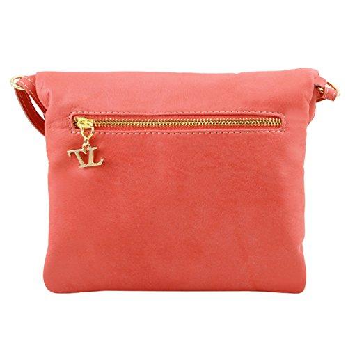 Tuscany Leather TL Young Bag Bolso con bandolera y borla Marrón Bolsos de asa larga Rojo