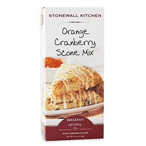 Stonewall Kitchen Orange Cranberry Scone with Orange Glaze, 12.9 Ounce Cranberry Orange Scone Mix