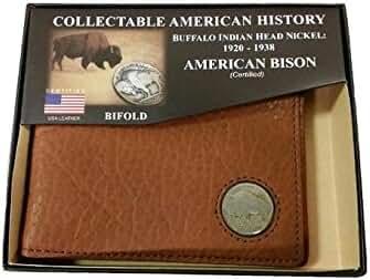 American Bison Buffalo Nickel Men's Bifold Wallet
