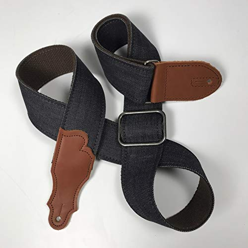 (Franklin Strap - Denim Series - Cotton Backing - Ball Glove Leather Ends (Blue/Cognac))
