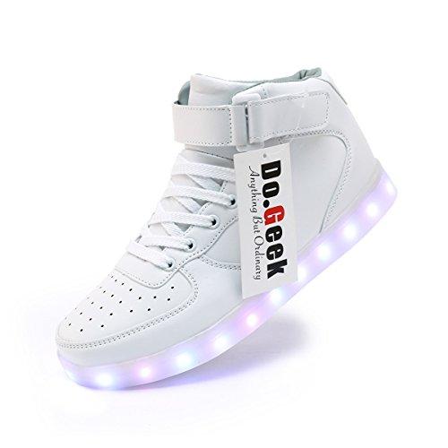 Luminosi Avete Se Non Sneakers Luci DoGeek Sportive contattarci Scarpe Adulto Scarpe Accendono Unisex LED con White Domande esitate Le a WWBIpZ