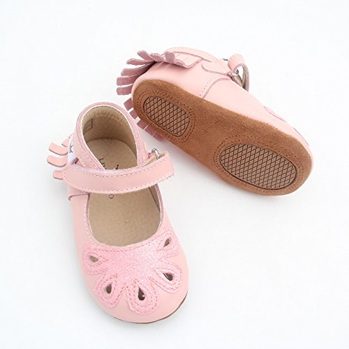 Image of Liv & Leo Baby Girls Mary Jane Sandals Moccasins Soft Sole Crib Shoes Leather