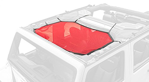 Rugged Ridge 13579.24 Red Eclipse Sun Shade for Select Jeep Wrangler JK Models