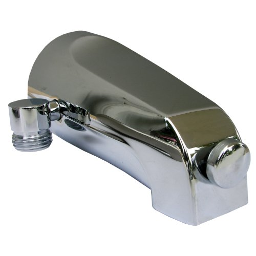 Simpatico 82193C Bath Tub, Diverter Slip Fit Spout with 1/2 Inch Pipe Personal Shower Outlet Fits 1/2 Copper Tube, Chrome (Outlet Tub)