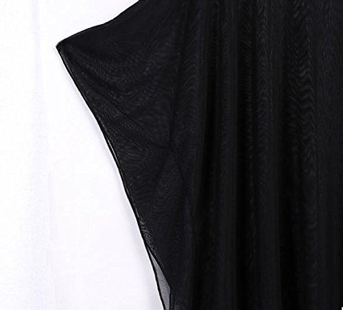 Happylife12 Women Oversized Beach Bikini Swimwear Cover-up (One Size, Black)