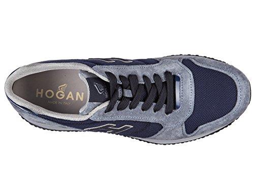Hogan chaussures baskets sneakers homme en daim interactive n20 h blu