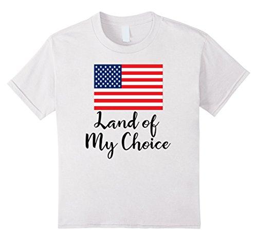 Kids New American Citizen T-Shirt Gift Land of My Choice US 10 White