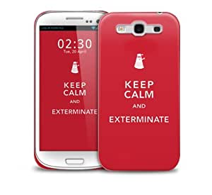 Keep Calm & Exterminate Samsung Galaxy S3 GS3 protective phone case