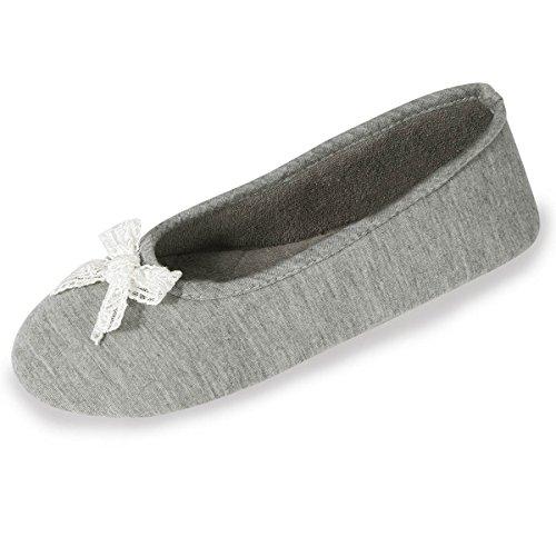 Zapatillas bailarinas para mujer Isotoner Gris claro