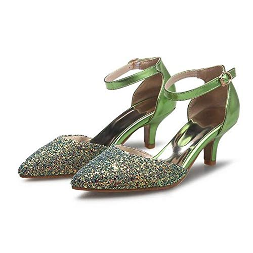 Comfort Gris Zapatos PU Gray Aguja Rojo Verano Poliuretano de de ZHZNVX Talones de Tacón Plata Mujer 18OwqTFF