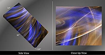 Picture Sensations Framed Huge 3-Panel Abstract Art Electric Swirl Giclee Canvas Print
