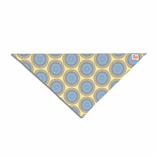 KESS InHouse Rachel Watson Blue Gold Brocade Yellow Gray Pet Bandana, 28