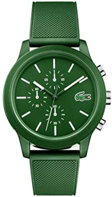 Lacoste Mens TR90 Quartz Watch with Rubber Strap, Green, 21 (Model: 2010973)