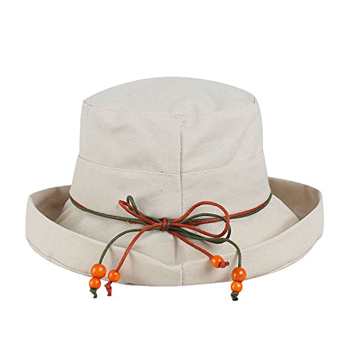 Anti-Ultraviolet Cotton and Cotton Curling Ladies and Fisherman Hats Sun Visor Folding Basin ()