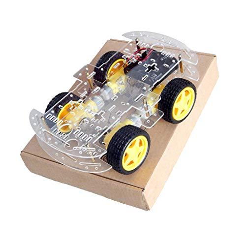 MagiDeal Kit de Chasis de Coche Robot Principiante 4wd Inteligente Diy Codificador de Velocidad para Arduino