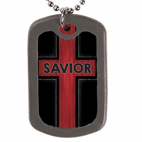 Savior Faith Tag Christian Necklace (Kerusso Christian Necklace)
