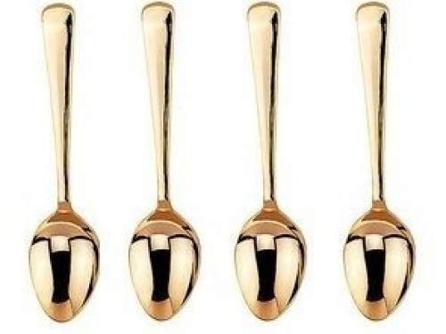 HIC Gold Plated Demi Spoon - Set of 4