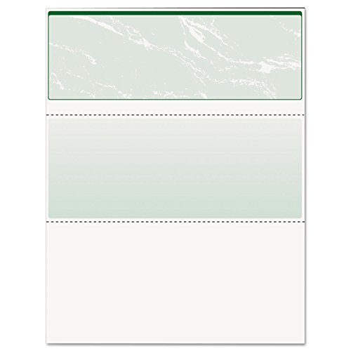 DocuGard Green Marble Top Check, 8.5 x 11 Inches, 24 lb, 500 Sheets, 1 Check Per Sheet (04502)