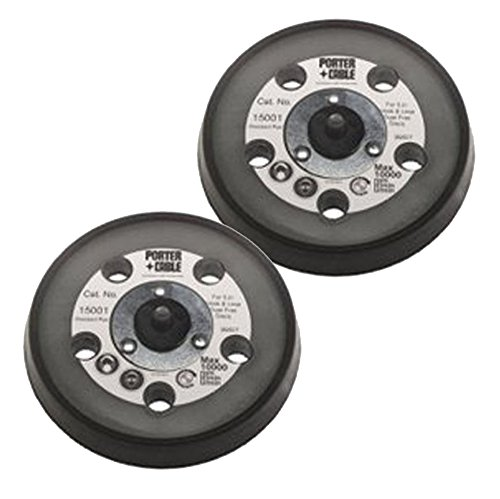 """Porter Cable 15001 Replacement (2 Pack) 5"""" 5-Hole Contour Hook & Loop Pad # 15001-2pk Review"""