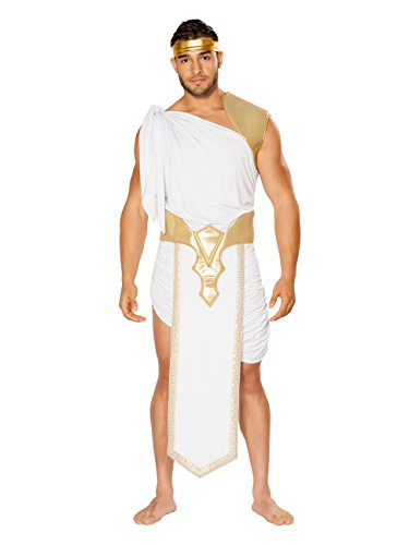 Mens Greek God Costume (L/XL 46-50) White/Gold