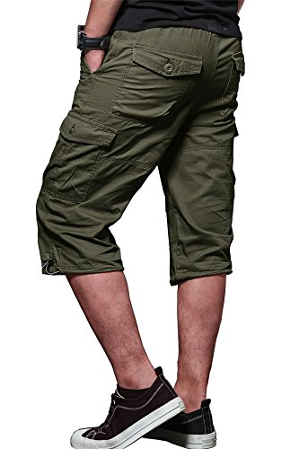 MAKEIIT Men's Juniors Cargo Shorts XXXL Cargo Shorts Dri Fit Cargo Shorts with Multi-Pocket by MAKEIIT (Image #3)