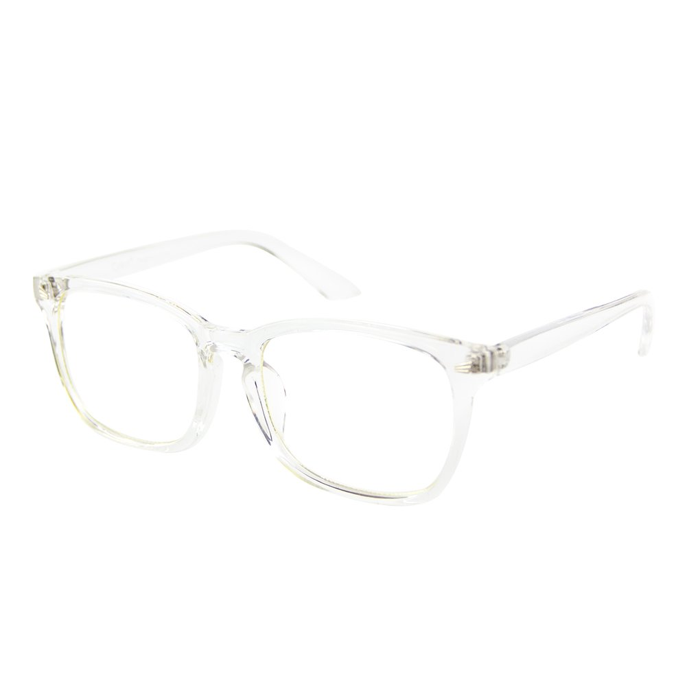 Cyxus Blue Light Filter Computer Glasses for Blocking UV Headache [Anti Eye Eyestrain] Transparent Lens, Unisex (Men/Women) (Crystal)