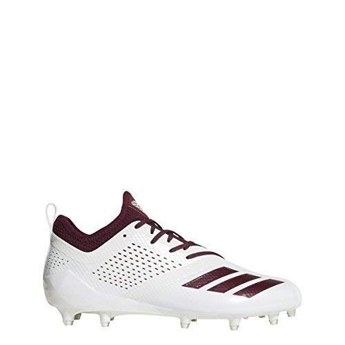 adidas Adizero 5Star 7.0 Cleat Men's Football 14 White-Maroon