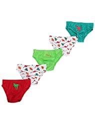 Childrens Boys Dinosaur/Pirate Cotton Underwear Briefs (Pack Of 5)
