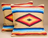 Mission Del Rey Pair of Old Style Southwestern Pillow Covers 18×18 – Serape Tan Review