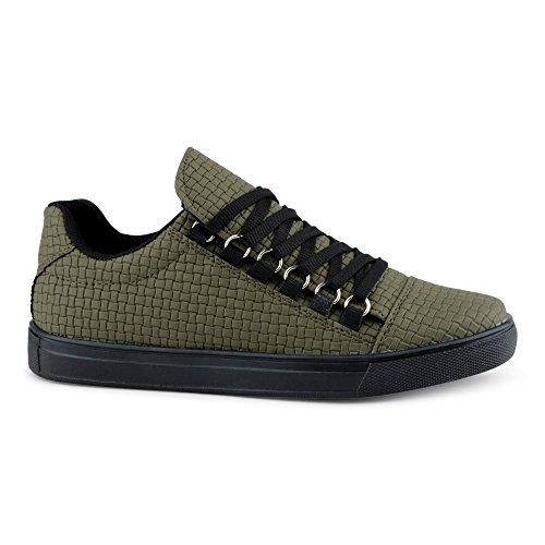 Grün Freizeitschuhe Herren Sportschuhe Muster FiveSix Sneaker FgXwqgE