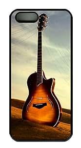 Guitar Creativity Polycarbonate Custom iPhone 5S/5 Case Cover - Black