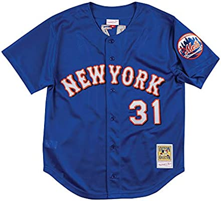 Mitchell /& Ness Mike Piazza-New York Mets 2000 Authentic Mesh BP Jersey