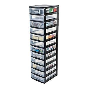 Iris ohyama europe nmc 012 plastic 12 storage drawer - Tour de rangement plastique ikea ...