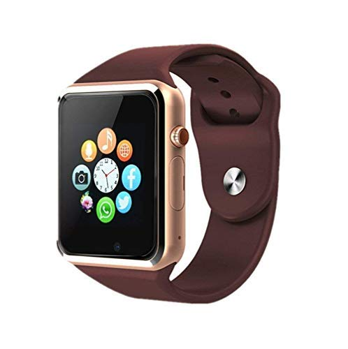 Bluetooth Smart Watch - Aeifond Touch Screen Sport Smart Wrist Watch Smartwatch Phone Fitness Tracker with Camera Pedometer SIM TF Card Slot for Samsung Android iPhone iOS for Kids Men Women (Gold)