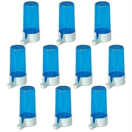 Pet Ting blu drinker 13cm 200CC–Abbeveratoio per fringuelli Canarini Budgie ECT (confezione da 5) PT90X5