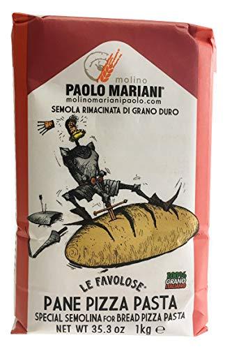 (PAOLO MARIANI Durum Wheat Semolina Flour for Bread, Pizza and Pasta 2.2 Lbs)