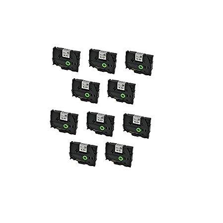 5 Casetes de Cinta compatibles con Brother TZe161 TZ161 Negro sobre Transparente 36mm x 8m para Brother P-Touch PT-3600 530 550 9200PC 9200DX 9400 9500PC 9600 9700 9700PC 9800 9800PCN D800W E800T E800TK E850TKW P900W P950NW RL-700S