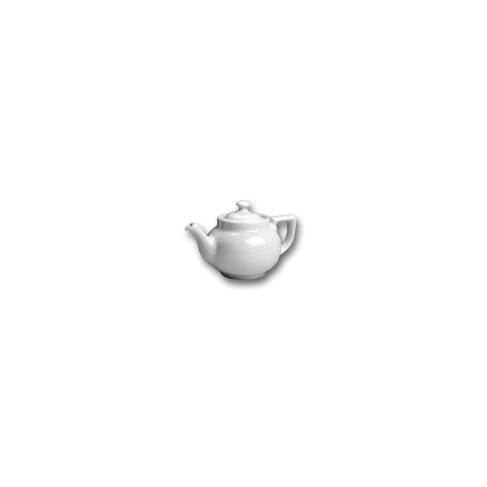 Hall China 22-WH White 16 oz Boston Teapot with Knob Cover - 12 / CS by Hall China (Image #1)